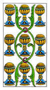 Nine of Cups Tarot card in Classic Tarot deck