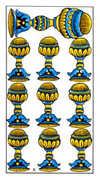 Ten of Cups Tarot card in Classic deck