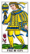Page of Cups Tarot card in Classic Tarot deck