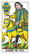 Knight of Cups Tarot card in Classic deck