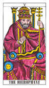 The Hierophant Tarot card in Classic deck