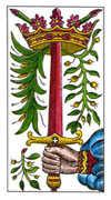 Ace of Swords Tarot card in Classic Tarot deck