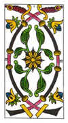 Two of Swords Tarot card in Classic Tarot deck