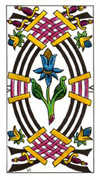 Six of Swords Tarot card in Classic deck