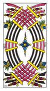 Eight of Swords Tarot card in Classic deck
