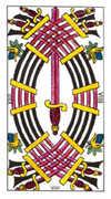 Nine of Swords Tarot card in Classic deck