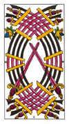 Ten of Swords Tarot card in Classic deck