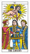 The Lovers Tarot card in Classic deck