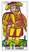 Page of Swords Tarot card in Classic deck