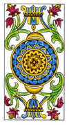 Ace of Pentacles Tarot card in Classic deck