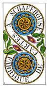 Two of Pentacles Tarot card in Classic Tarot deck