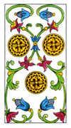 Three of Pentacles Tarot card in Classic deck