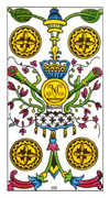 Four of Pentacles Tarot card in Classic deck
