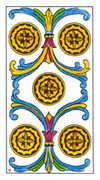 Five of Pentacles Tarot card in Classic deck