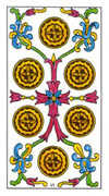 Six of Pentacles Tarot card in Classic deck
