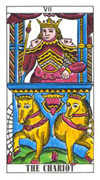 The Chariot Tarot card in Classic Tarot deck