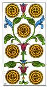 Seven of Pentacles Tarot card in Classic Tarot deck