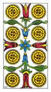 Eight of Pentacles Tarot card in Classic Tarot deck