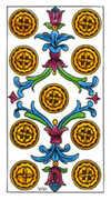 Nine of Pentacles Tarot card in Classic Tarot deck