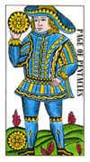 Page of Pentacles Tarot card in Classic Tarot deck