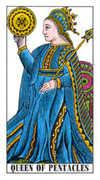 Queen of Pentacles Tarot card in Classic deck