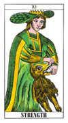 Strength Tarot card in Classic Tarot deck