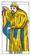 The Hermit Tarot card in Classic Tarot deck