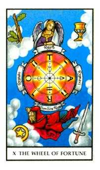 The Wheel of Fortune Tarot Card - Connolly Tarot Deck