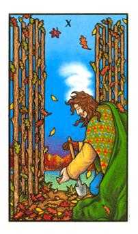 Ten of Staves Tarot Card - Connolly Tarot Deck