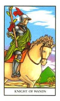 Knight of Clubs Tarot Card - Connolly Tarot Deck
