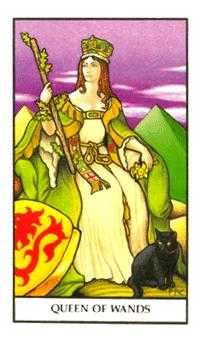Queen of Rods Tarot Card - Connolly Tarot Deck
