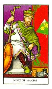 King of Staves Tarot Card - Connolly Tarot Deck