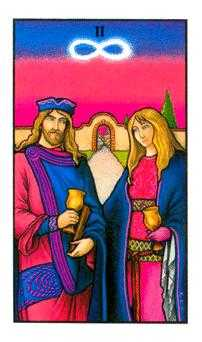 Two of Hearts Tarot Card - Connolly Tarot Deck