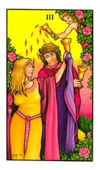 Three of Cups Tarot Card - Connolly Tarot Deck
