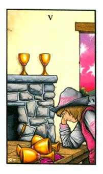 Five of Ghosts Tarot Card - Connolly Tarot Deck