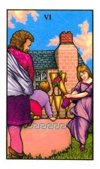 Six of Hearts Tarot Card - Connolly Tarot Deck