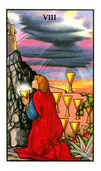Eight of Cauldrons Tarot Card - Connolly Tarot Deck