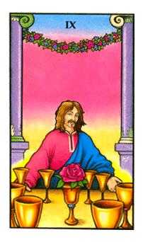 Nine of Bowls Tarot Card - Connolly Tarot Deck