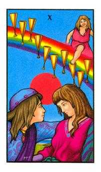 Ten of Hearts Tarot Card - Connolly Tarot Deck