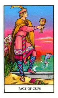 Valet of Cups Tarot Card - Connolly Tarot Deck