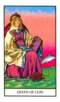 Queen of Bowls Tarot Card - Connolly Tarot Deck