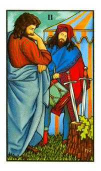 Two of Wind Tarot Card - Connolly Tarot Deck