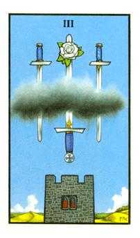 Three of Arrows Tarot Card - Connolly Tarot Deck