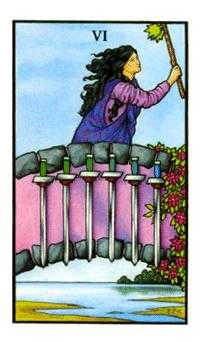 Six of Arrows Tarot Card - Connolly Tarot Deck