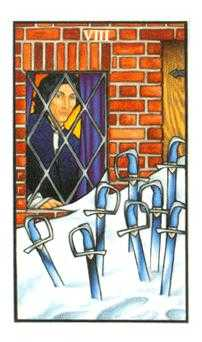 Eight of Arrows Tarot Card - Connolly Tarot Deck