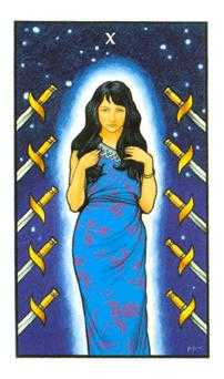 Ten of Arrows Tarot Card - Connolly Tarot Deck