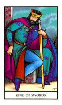 Roi of Swords Tarot Card - Connolly Tarot Deck