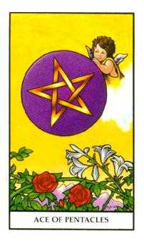 Ace of Discs Tarot Card - Connolly Tarot Deck