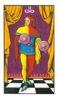 Two of Coins Tarot Card - Connolly Tarot Deck