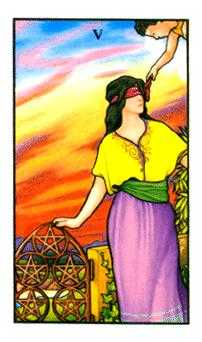 Five of Pentacles Tarot Card - Connolly Tarot Deck